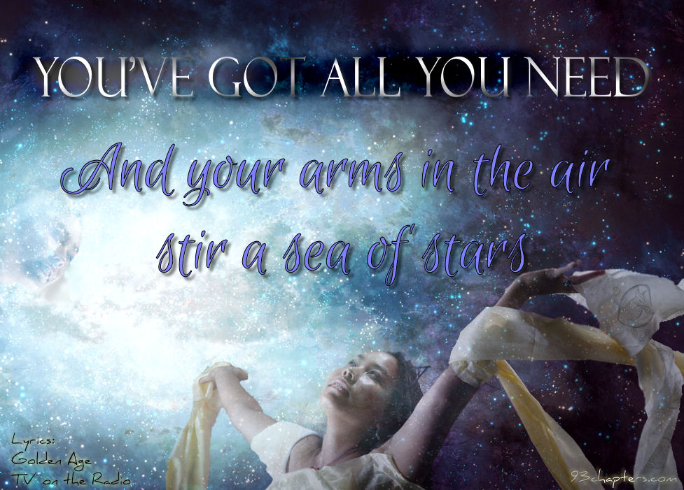 Your Arms in the air stir a sea of stars